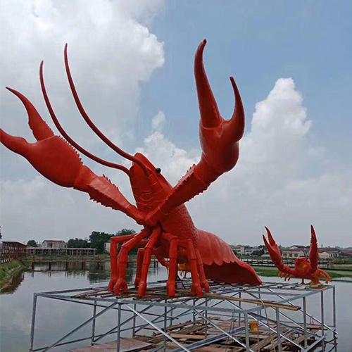 龙虾玻璃钢雕塑